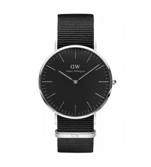 Montre Femme DANIEL WELLINGTON Classic Black Cornwall 40mm Argenté DW00100149