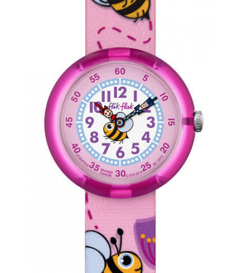 montre fille flik flak buzzy mission fbnp044 montres et plus. Black Bedroom Furniture Sets. Home Design Ideas