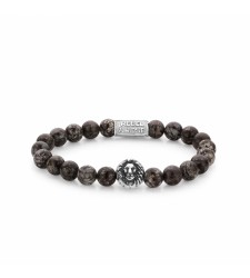 Bracelet REBEL & ROSE LION HEAD BROWN SUGAR RR-8L031-S