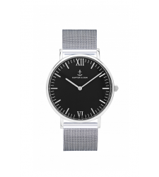 MONTRE KAPTEN & SON CAMPUS SILVER BLACK MESH