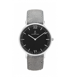 MONTRE KAPTEN & SON CAMPUS SILVER BLACK GREY VINTAGE