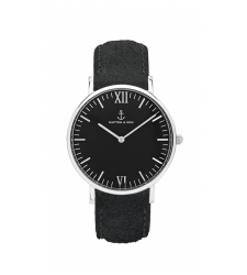 MONTRE KAPTEN & SON CAMPUS SILVER ALL BLACK VINTAGE