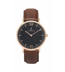 MONTRE KAPTEN & SON CAMPUS SILVER BLACK BROWN LEATHER