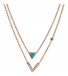 COLLIER FOSSIL FEMME JF02644791