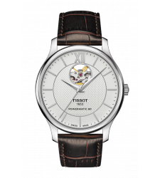 Montre Homme Tissot T-Cassic Tradition Automatique Powermatic 80 Open Heart T063.907.16.038.00