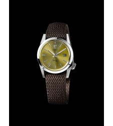 Montre MARCH LA.B SEVENTY2 Perlon marron foncé SEVENTY2P4