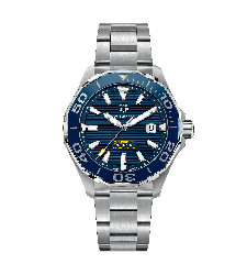 Montre TAG Heuer Aquaracer Automatique Homme Calibre 5 Lunette Céramique 43mm WAY201B.BA0927