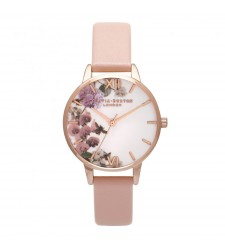 Montre Femme OLIVIA BURTON Enchanted garden Dusty Pink and Rose Gold OB15FS68