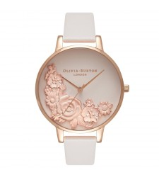 Montre Femme OLIVIA BURTON FLower Show Moulded Floral Bouquet Blush and Rose Gold OB16FS85