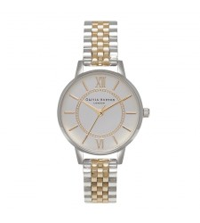 Montre Femme OLIVIA BURTON Wonderland Silver and Gold Mix OB15WD46