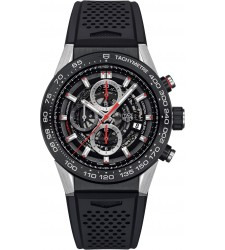 Montre TAG Heuer CARRERA calibre Heuer 01 chronographe automatique CAR2A1Z.FT6044