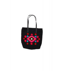 Sac cabas SPRING BLACK de la collection HAMENAPIH d'HIPANEMA E16SPRIBLK