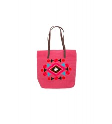 Sac cabas SPRING PINK de la collection HAMENAPIH d'HIPANEMA E16SPRIPI